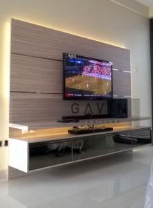 Backdrop TV  Minimalis Dengan Bahan HPL