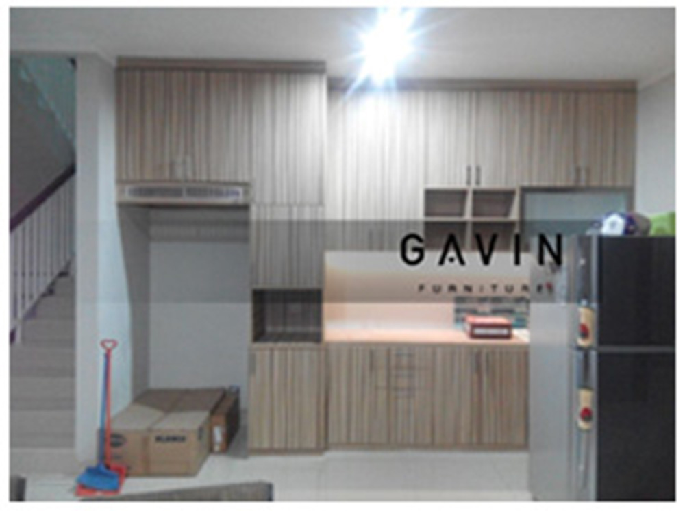 Kitchen set sederhana minimalis kitchen set bintaro for Kitchen set olympic harga