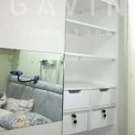 lemari pakaian minimalis kombinasi cermin