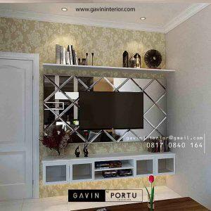 Jasa Buat Backdrop Tv Klasik Putih Apartemen