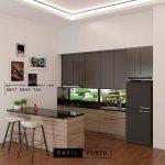Jasa Cabinets Dengan Meja Island Minimalis ID4582T