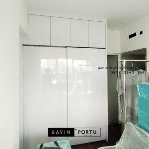 Buat Lemari Pakaian Sliding Putih Apartemen Marbella Kemang Residence Mampang Prapatan Id4774P