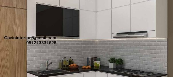 Kitchen Set Minimalis Putih Perumahan Villa Rizki Ilhami Kelapa Dua Tangerang ID4823