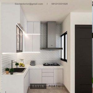Design Kitchen Set Minimalis Putih Glossy Perumahan Vanya Park BSD Pagedangan ID4801P