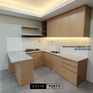 Jasa Kitchen Set Minimalis Motif Kayu Kencana Loka 2 Extension Serpong Tangerang Banten Id4867P