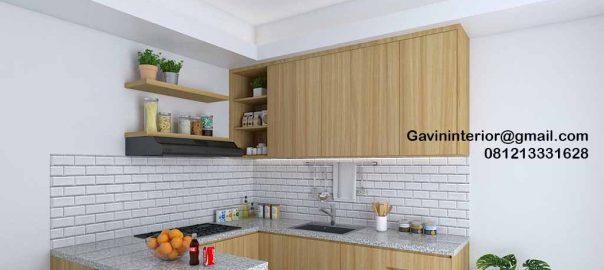 Jasa Kitchen Set Minimalis Motif Kayu Kencana Loka 2 Extension Serpong Tangerang Id4867P