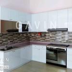 Daftar Harga Kitchen Set Minimalis HPL White Glossy Pak Benny Bintaro