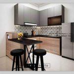 Kitchen Cabinets Desain Minimalis Finishing Kombinasi ID4975PT