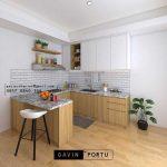 Kitchen Cabinets Kombinasi Meja Makan ID4867T