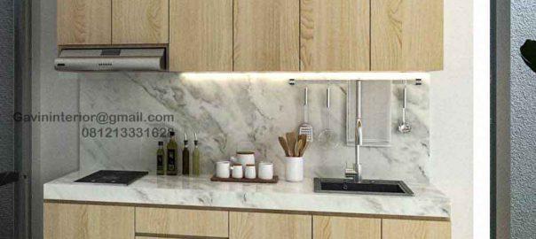 Harga Kitchen Set Minimalis Motif Kayu Perumahan Darmawangsa Residence Tambun Utara ID5144